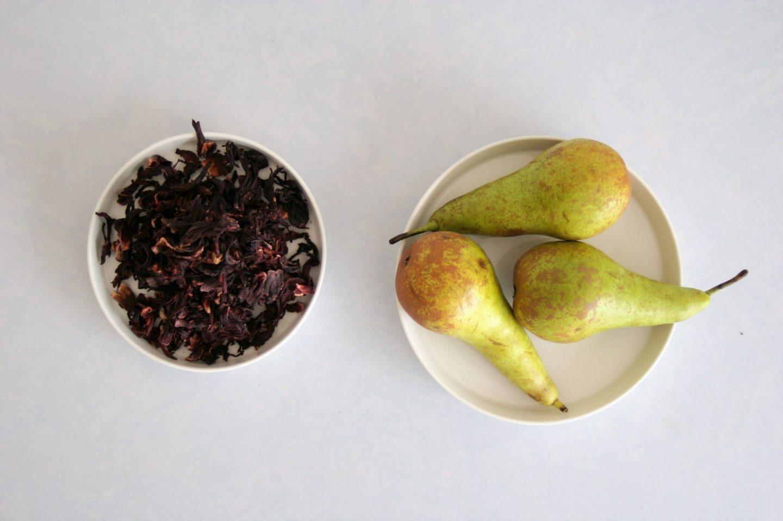 poire et infusion hibiscus